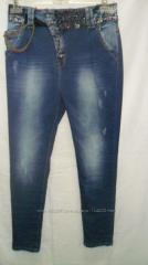 Jeans female with accessories