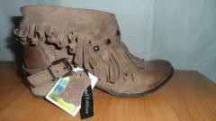 Суперстильные ботиночки кожаные с бахромой