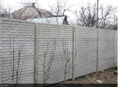Еврозаборы бетонные, забор под кирпич,