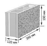 Блок пустотный сплиторный (колотый) для