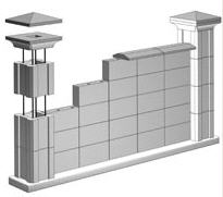 """Пустотный блок """"Столб"""" для строительства"""