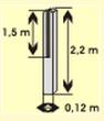 La columna para la cerca de 3 secciones