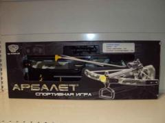 Игр Арбалет M 0004 U/R (6шт) стрелы на присосках,