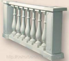 Balustrade assembled