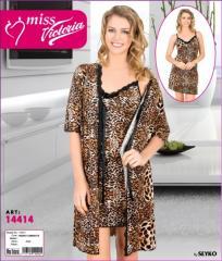 MISS VICTORIA Халат+рубашка 14414 (5)