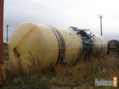 Railway tank 40, 50, 60, 75 cubic meters.