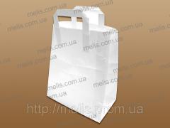 Kraft packages of flat handles of 260х260х140 mm