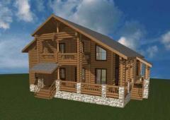 Деревянный дом из бруса. Проект
