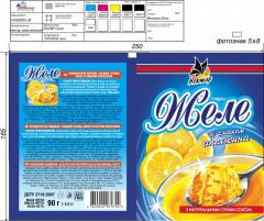 Желе зі смаком лимона, желе со вкусом лимона