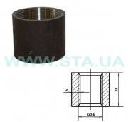 Coupling steel straight line of 20 mm of GOST