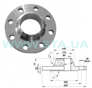 Flange of vorotnikovy 100 mm of PN63 steel