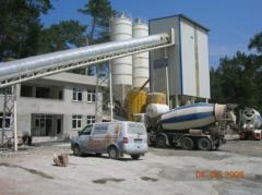 Plants concrete stationary with skipovy loading of