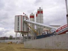 The equipment for unloading of cement and inert