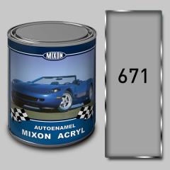 Acrylic Mixon Acryl autoenamel, Light-gray 671, 1