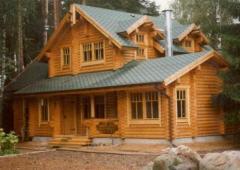 Деревянные дома из оцилиндрованного бревна