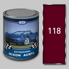 Acrylic autoenamel Mixon Acryl, Carmen 118, 1 of l