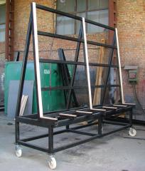 Equipment for transportation of mirrors