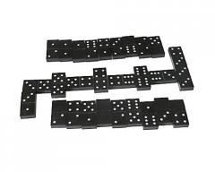 Dominoes are black