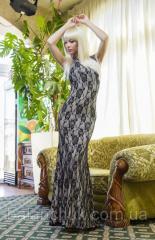Платье в пол гипюр на подкладе  Платья гипюровые