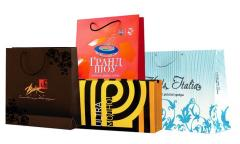 Paper packages for shops, the presentations, etc.