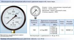 DM manometers 05, degree of protection of IP-53
