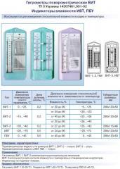 Hygrometers psikhrometrichesky VIT, psychrometers
