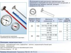 Thermometers bimetallic needle TBI TU U