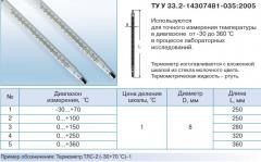 Liquid-in-glass laboratory thermometers