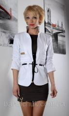 Пиджак белый Фешен