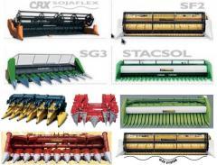 Harvesters of CRESSONIDLYA-grain - sunflower - soy