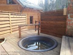 Cauldron for a sauna