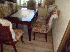 Накидка на кресла овчина, коричневая