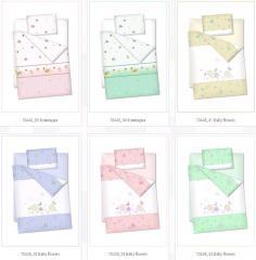 Bed children's Baby flowers fabrics