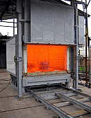 Electric chamber furnaces bogie hearth type