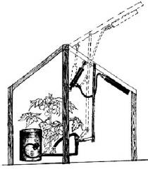 Automatic machine for airing of the greenhouse