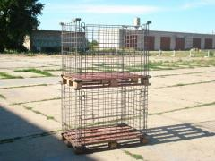 Containers for vegetable storehouses, metal,