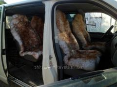 Cape from a sheepskin, for an automobile seat