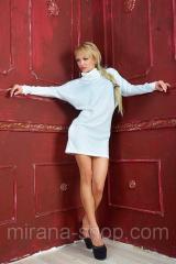 Платье мешок с высоким воротником Белое  Платья