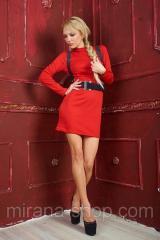 Платье с подтяжками Красное  Платья для коктейля
