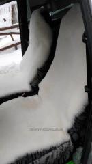 Накидка на сидения в автомобиль, овчина белая