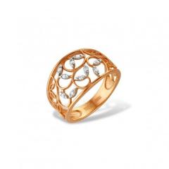 Jeweler ring from red and white gold 585 of test