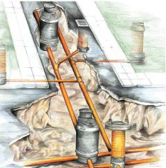 Drainage systems. Installation works. Water