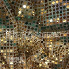 Ткань Копейка ( золото на светлом)