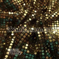 Ткань Копейка ( золото на черном )