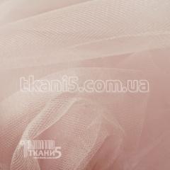 Ткань Фатин crystal трехметровый (пудра)
