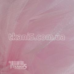 Ткань Фатин crystal трехметровый (бледно-розовый)