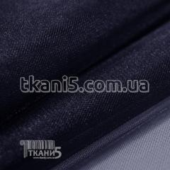Ткань Фатин crystal трехметровый (темно-синий)