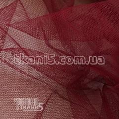 Ткань Фатин жесткий (бордо)
