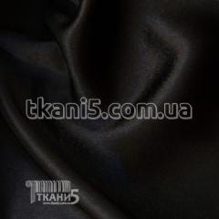 Satin-backed crepe (black)