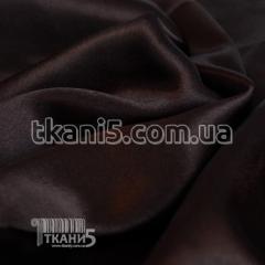 Satin-backed crepe (brown)